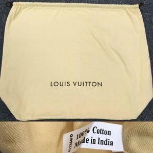 Authentic Louis Vuitton Drawstring Dust Bag
